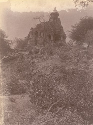 General view of the Shiva temple of the Chandella period, Gehraho, Jhansi District
